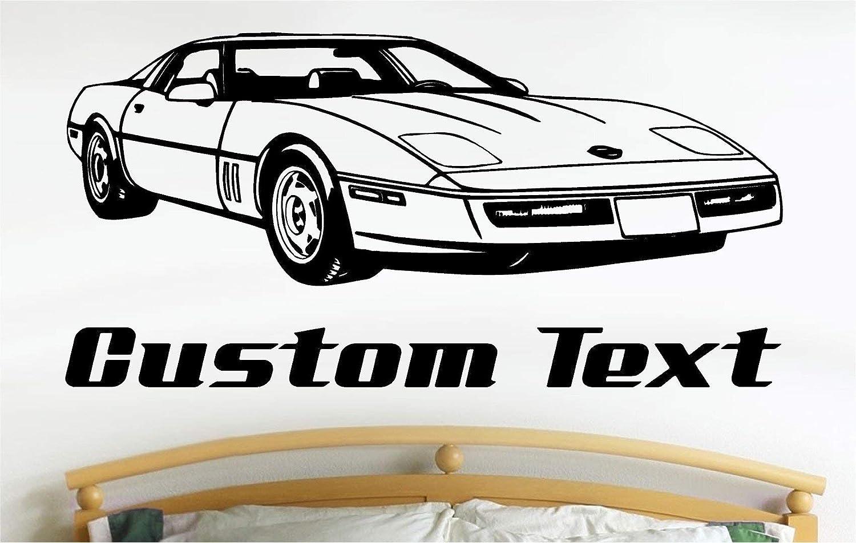 Pleasant Amazon Com Corvette Car Wall Decals Stickers Graphics Man Download Free Architecture Designs Scobabritishbridgeorg
