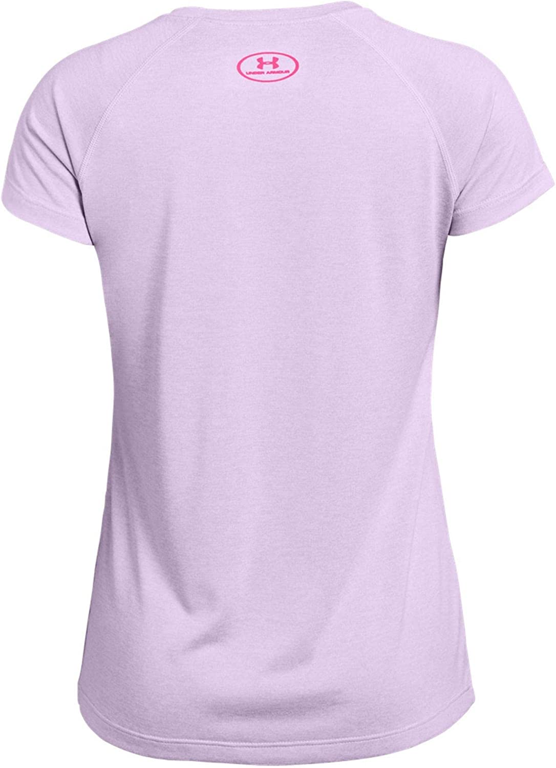 Under Armour Girls Big Logo Tee Twist Short Sleeve T-Shirt Short Sleeve