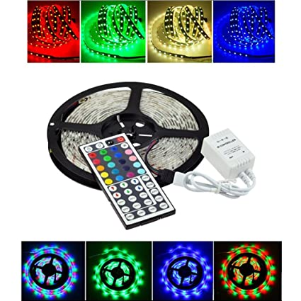 Amazon klaren 164ft 12v flexible led light strip led tape klaren 164ft 12v flexible led light strip led tape light 5050 rgb color changing aloadofball Gallery