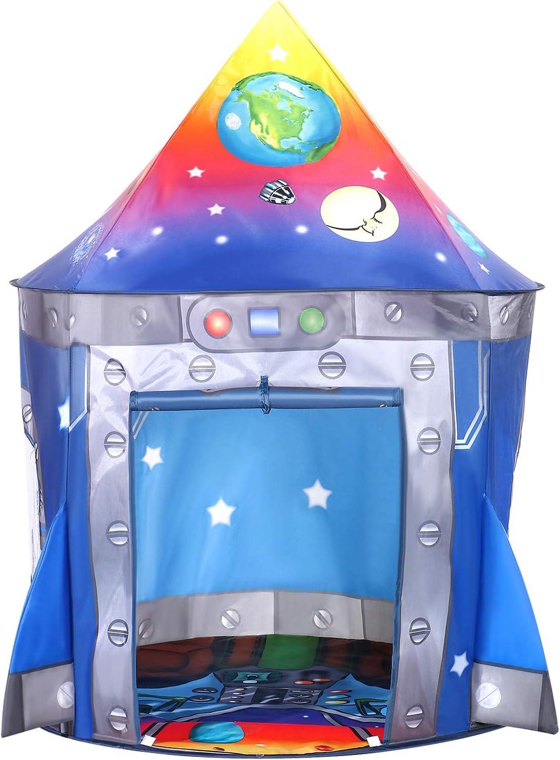 Tacobear Kinderspielzelt Junge Rakete Spielzelt f/ür Kinder Pop up Spielzelt Tragbare Faltbare Kinderzelt Spielhaus f/ür dinnen und drau/ßen mit Tragetasche