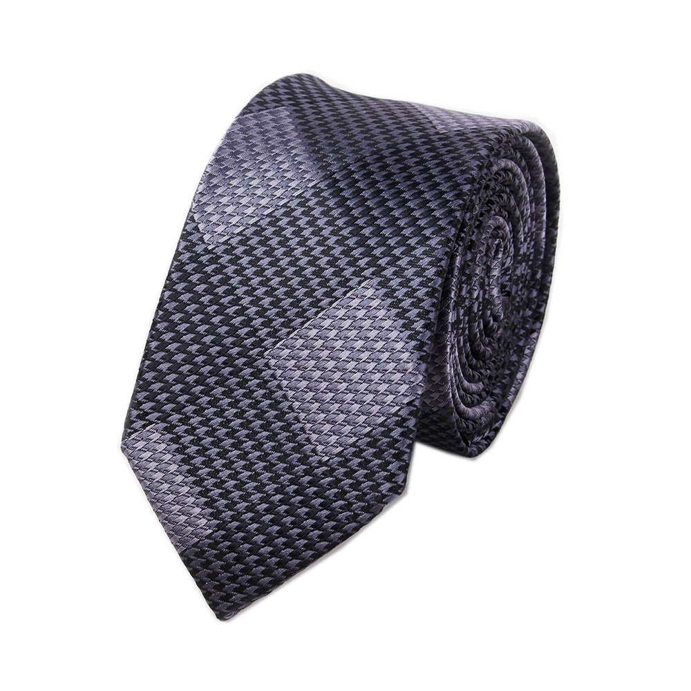 Men's Black Grey Dots Silk Cravat Stylish Casual Dress Party Suit Ties Gifts
