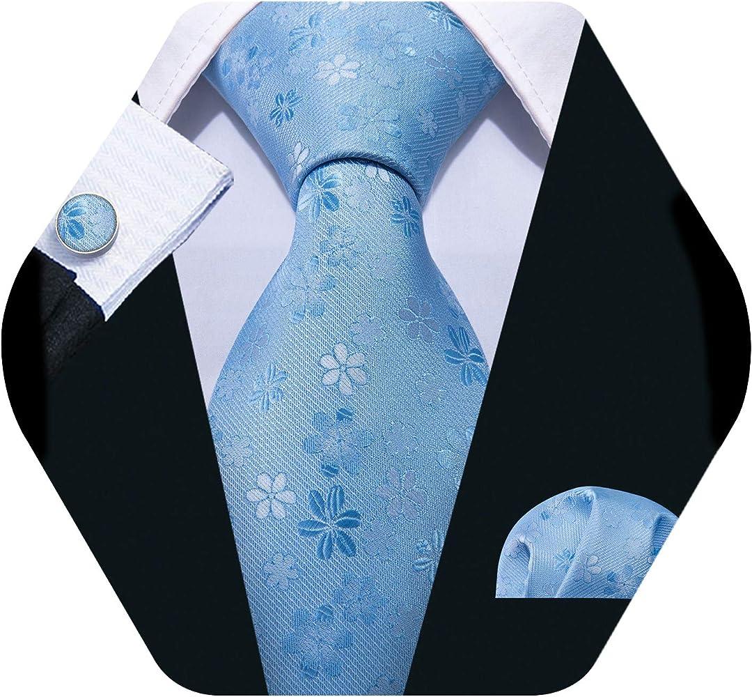 Barry.Wang - Corbata - para hombre Azul azul celeste Talla única ...