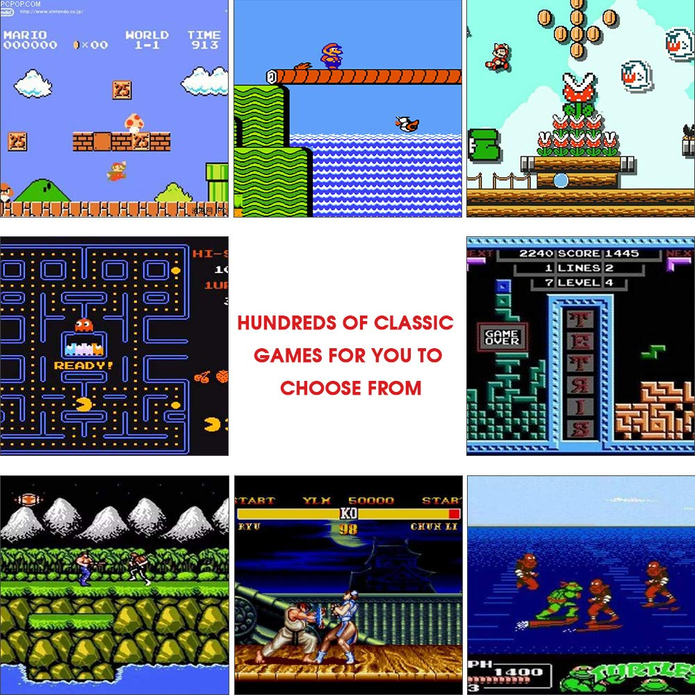 MEEPHONG Retro Game Console, HDMI AV Classic Mini Game Consoles, Built-in Hundreds of NES Classic Video Games by MEEPHONG (Image #2)