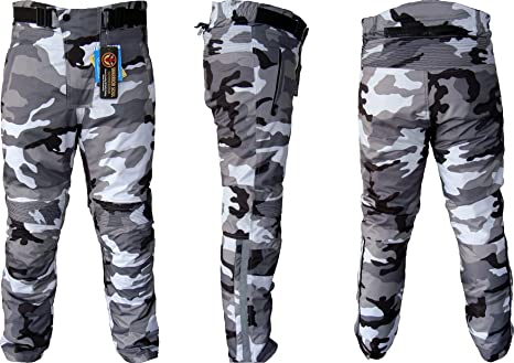Men Motorbike Motorcycle Waterproof Cordura Pant Textile With CE Armoured Camo