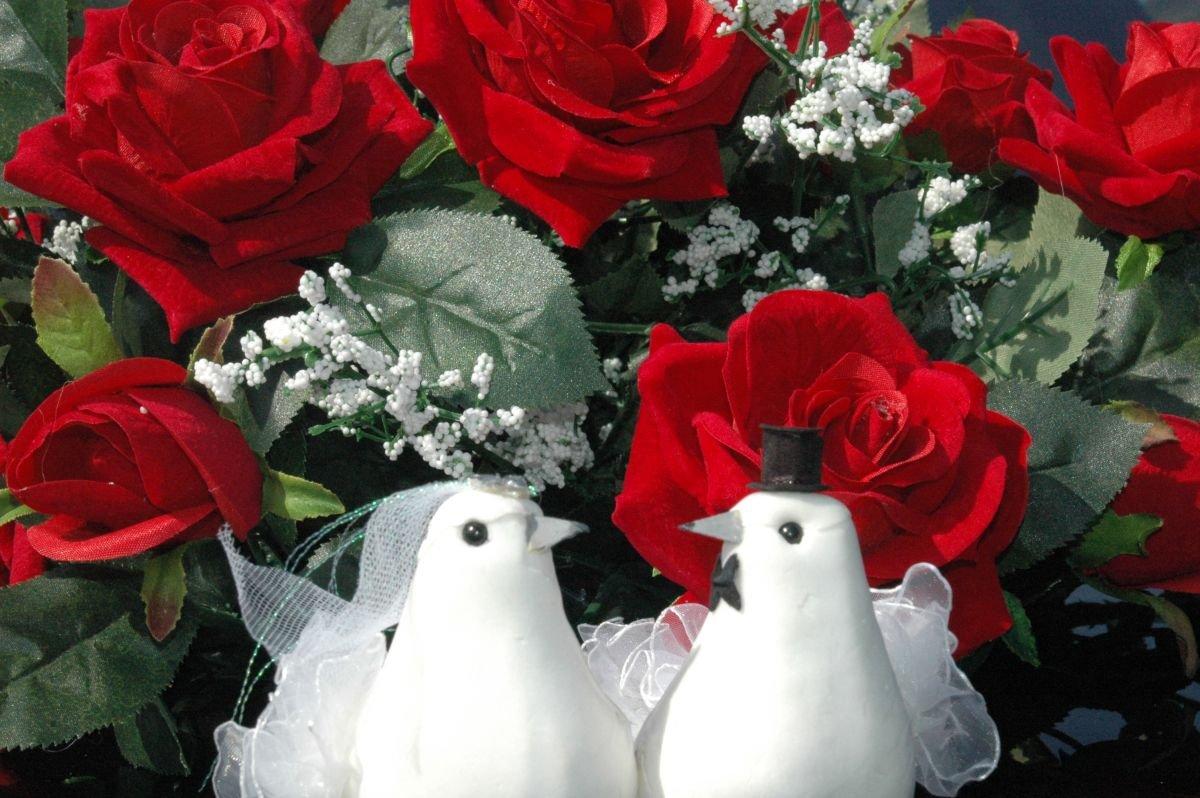 Echter Rosestrauss Auto Schmuck Braut Paar Rose Deko Dekoration
