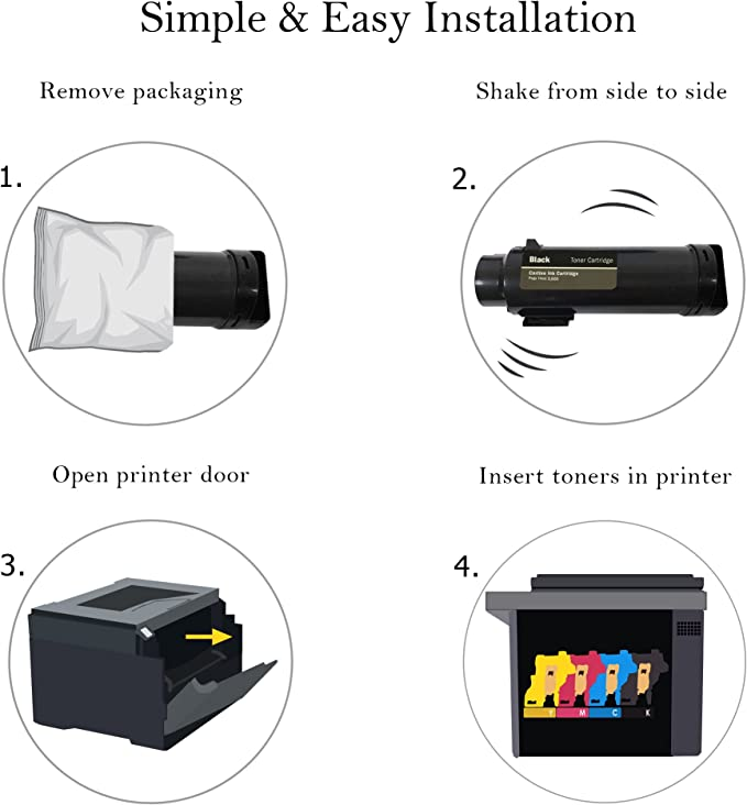 One Yellow, Yellow Toner Tap for Xerox Phaser 6510 WorkCentre 6515 Compatible Toner Replacement High Yield