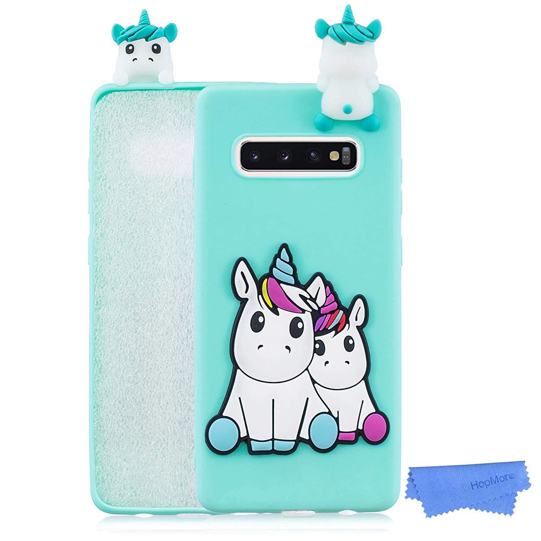 HopMore Compatible pour Coque Samsung Galaxy S10 Plus Silicone Souple 3D Motif Panda Licorne Dr/ôle Housse Samsung S10 Plus Antichoc Mince Fine Etui Protection pour Fille Femme Panda