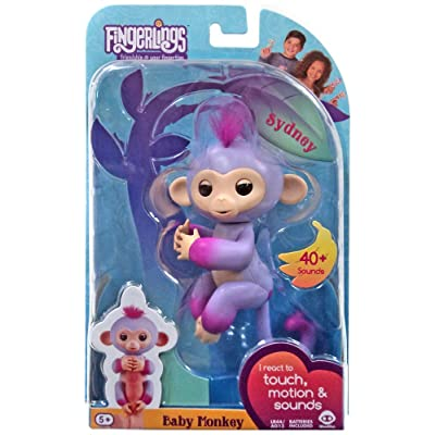 Fingerlings - Interactive Baby Monkey - Two Tone - Sydney: Toys & Games
