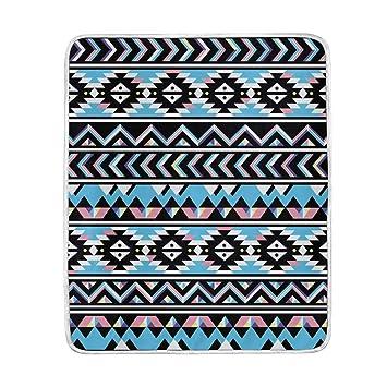 vinlin Tribal Azteken-Muster, Samt-Plüsch-Überwurf, gemütlich, warm ...