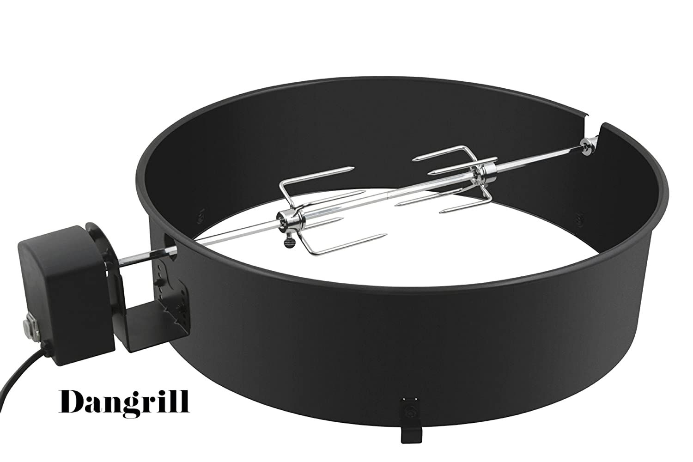 Kugelgrill Grillspieß Set Ø 57 cm mit Motor Rotisserie Drehspiess