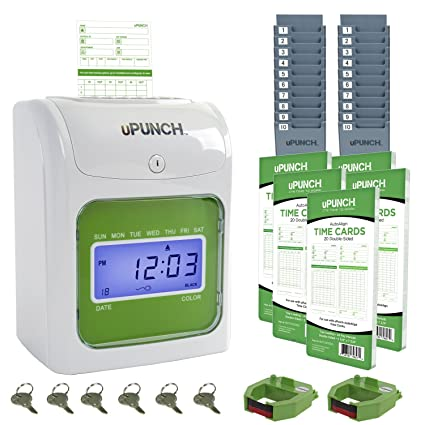 amazon com upunch time clock bundle with 100 cards 2 ribbons 2