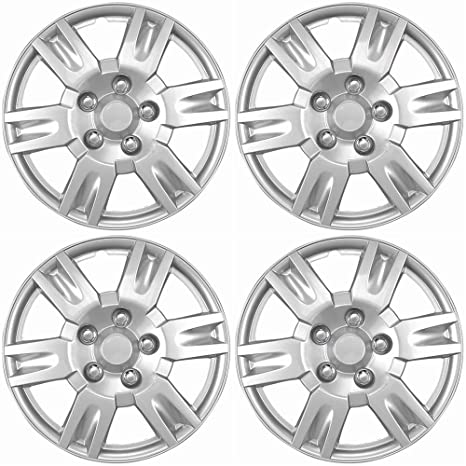 16 inch Hubcaps Best for 2005-2006 Nissan Altima - (Set of 4) Wheel Covers 16in Hub Caps Silver Rim Cover - Car Accessories for 16 inch Wheels - Snap On ...