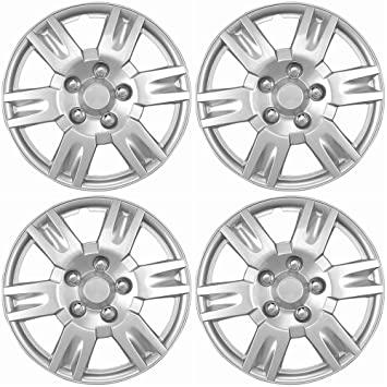 16 inch Hubcaps Best for 2005-2006 Nissan Altima - (Set of 4) Wheel Covers 16in Hub Caps Silver Rim Cover - Car Accessories for 16 inch Wheels - Snap ...