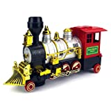 Rocky Mountain Battery Operated Children Kid's Bump and Go Toy Train w/ Real Train Smoke & Horn, Working Headlight