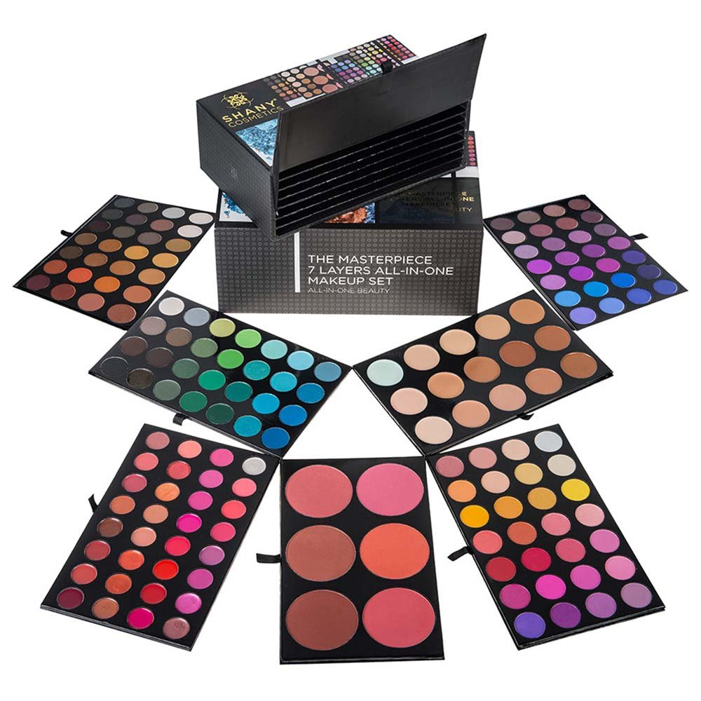 shany makeup kit. shany cosmetics the masterpiece 7 layers all-in-one makeup set: amazon.in: beauty shany kit .