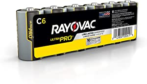 Rayovac C Batteries, Ultra Pro Alkaline C Cell Batteries (6 Battery Count)