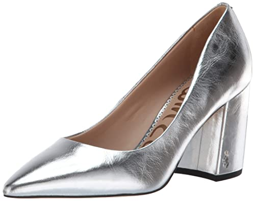 8bd16d960683 Sam Edelman Women's Tatiana Pump, Soft Silver/Metallic Leather, ...