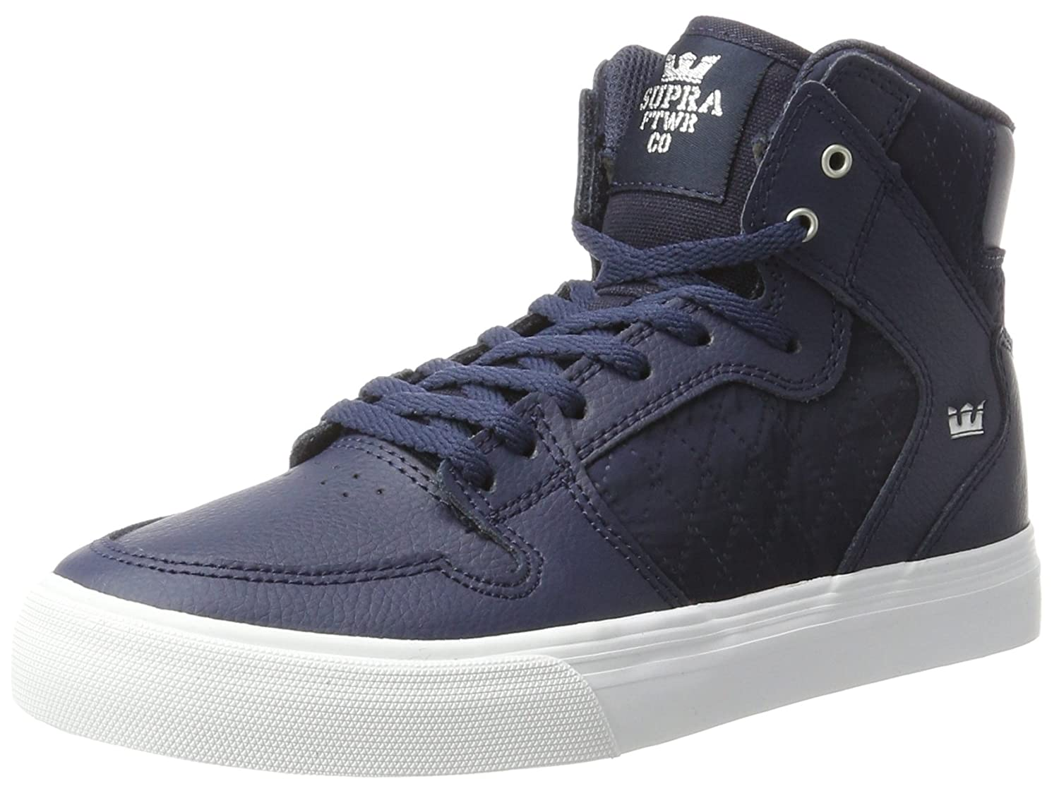 Supra Mens Skytop III Shoes Midnight Leather/White