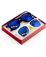 MJ Boutique's Classic Retro Classics Mirror Sunglasses - Blue Color Mirror