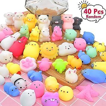 Amazon.com: ONLYO juguetes Mochi Squishy 40 piezas al azar ...