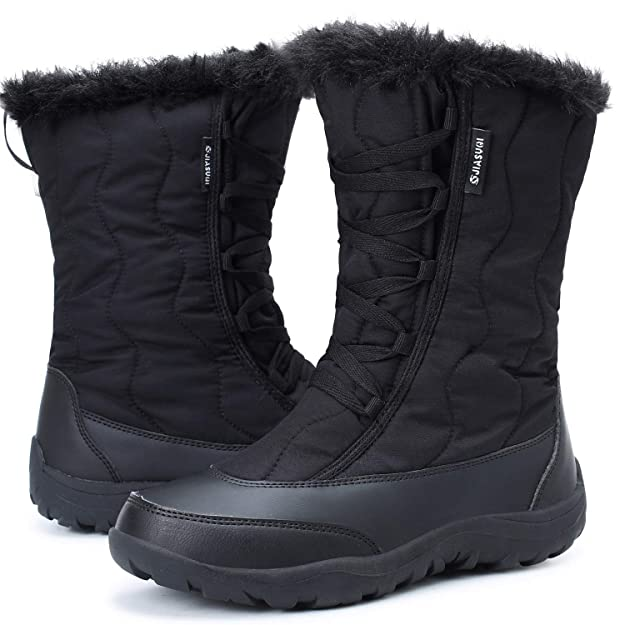 Leisfit Outdoor Waterproof Winter Snow Boots