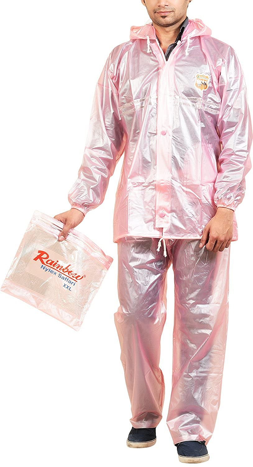 purchase authentic casual shoes usa cheap sale RAINBOW Men's Hooded Rainwear with Bag (Pink, XX-Large ...