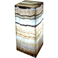 "Lámpara decorativa de mesa/buró 30cmx15cm en piedra mármol de ónix""Serpentina"""