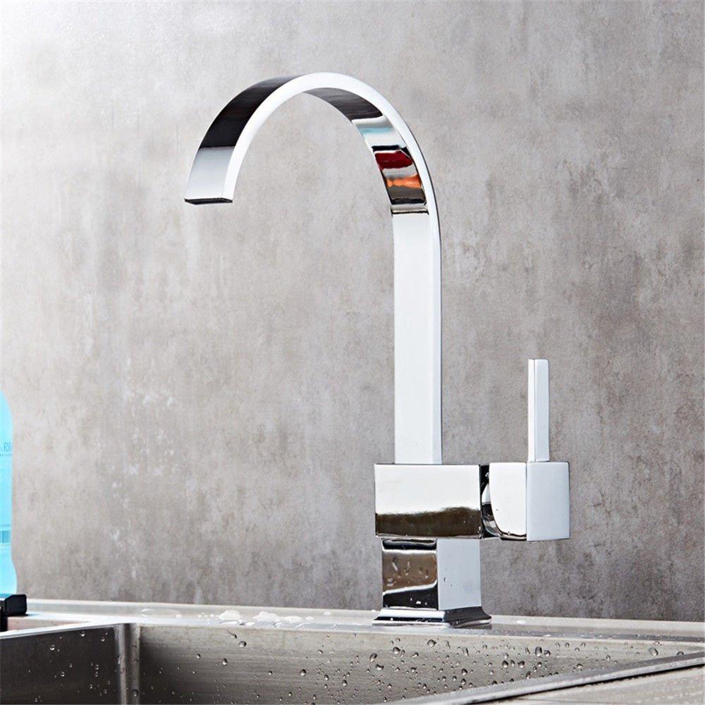 MMYNL Küchenarmatur Armatur Küche Wasserhahn Kalt Heiß 360 Grad schwenkbarer Auslauf Becken  Spültischarmatur