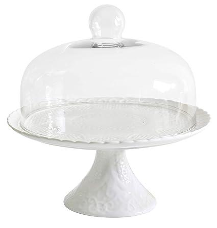 Amazoncom Jusalpha White Porcelain Decorative Cake Stand Cupcake