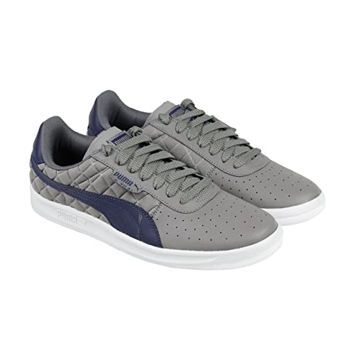 b25e1c2a0547c Puma G Vilas Quilted Mens Gray Leather/Textile Lace Up Lace Up ...