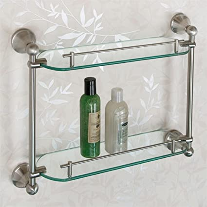 Amazon.com: Naiture Collection Tempered Glass Shelf - Two Shelves in ...
