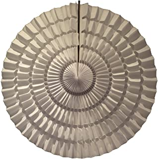 product image for 3-Pack 16 Inch Striped Tissue Paper Party Fan (White)