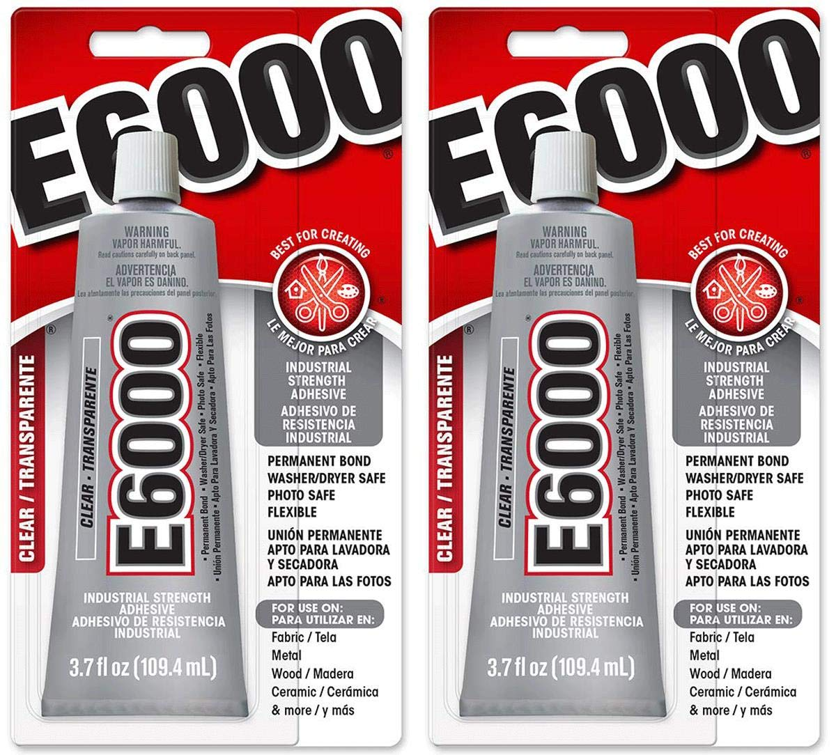 E6000 LWETLBVS 230010 Craft Adhesive, 2 Pack of 3.7 Ounces