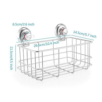 GBlife LifePlus Estantería de Esquina para Baño Ducha Organización del baño de Estanterías Organización de Baño de Estantes Almacenamiento de Ducha con 2pcs ...