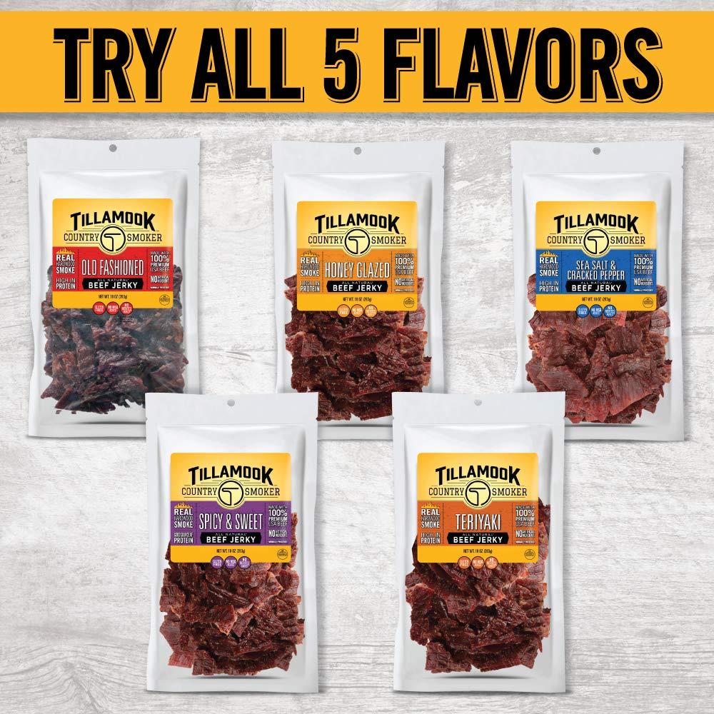 Tillamook Country Smoker All Natural, Real Hardwood Smoked Beef Jerky, Spicy & Sweet 10-oz Bag by Tillamook (Image #4)