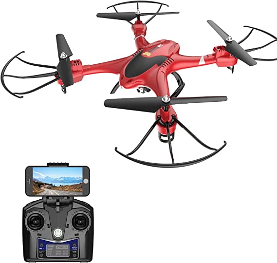Holy Stone HS200 FPV RC Drone with HD WiFi Camera Live Feed 2.4GHz 4CH 6-Axis Gyro Quadcopter with Altitude Hold