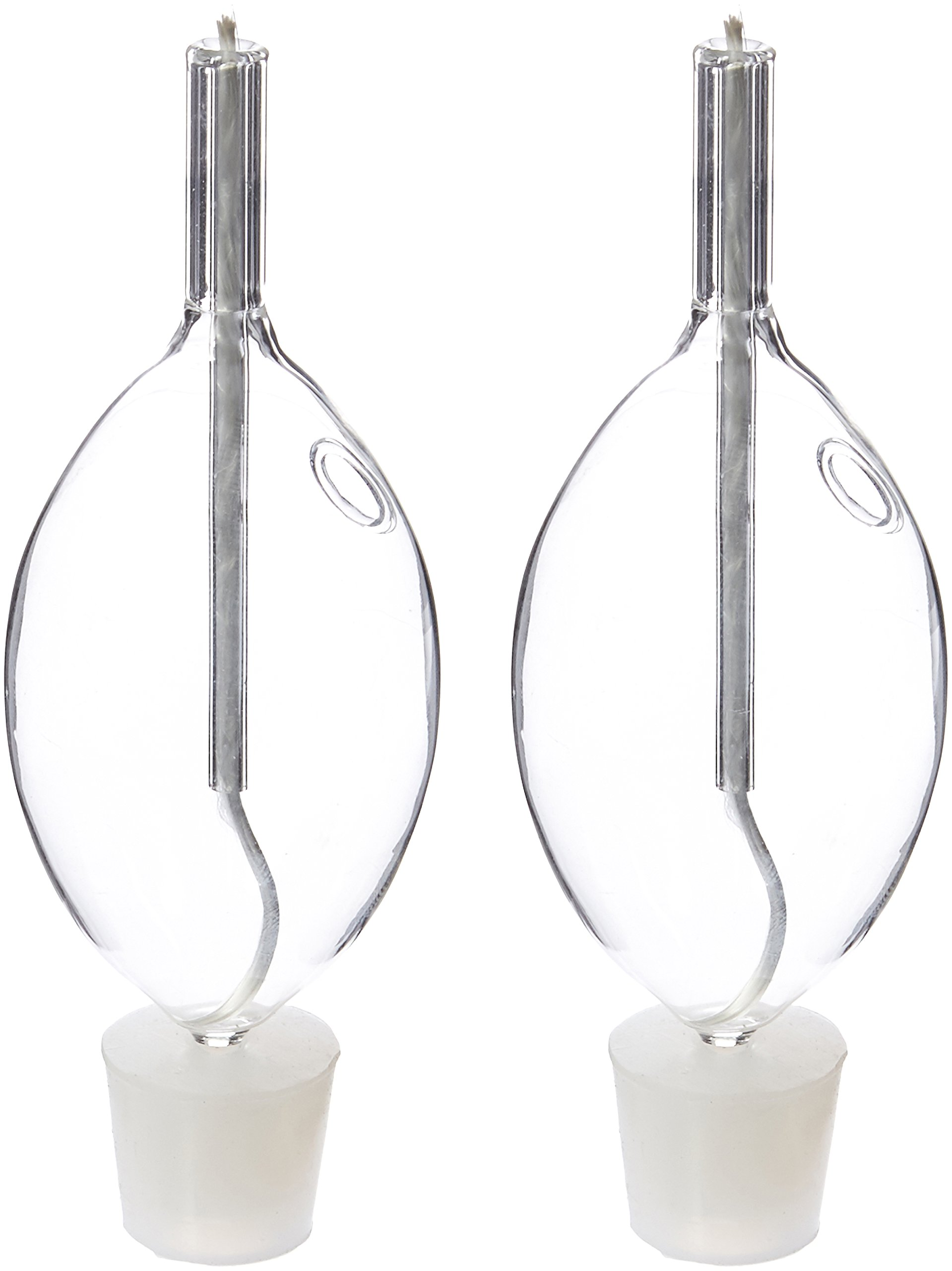Bright Lights Shabbat Clear Glass Paraffin Oil Lamps - Set of 2 by Bright Lights