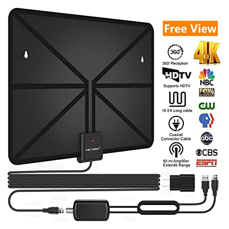 VICTONY HD Digital TV Antenna,Best 50 Miles Long Range High-Definition with HDTV