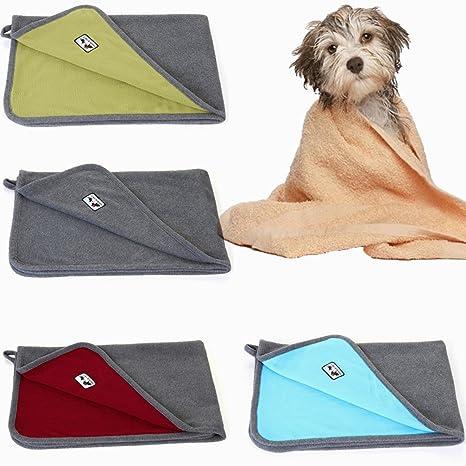 LA VIE Toalla de Perro Manta de Microfibra Suave para Mascotas Toalla de Baño Absorbente y