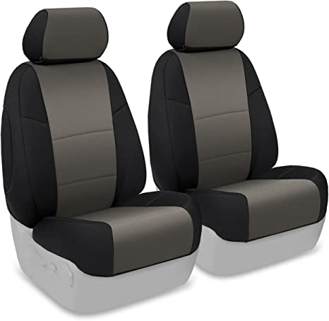 Nissan Frontier Seat Covers >> Coverking Custom Fit Front 50 50 Bucket Seat Cover For Select Nissan Frontier Models Neosupreme Charcoal With Black Sides