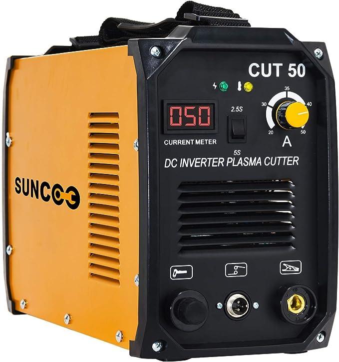CUT 50 Amp Non-Touch Pilot Arc Plasma Cutting Machine Dual Voltage 110//220V CNC 1//2 Inch Clean Cut CUT50P Plasma Cutter