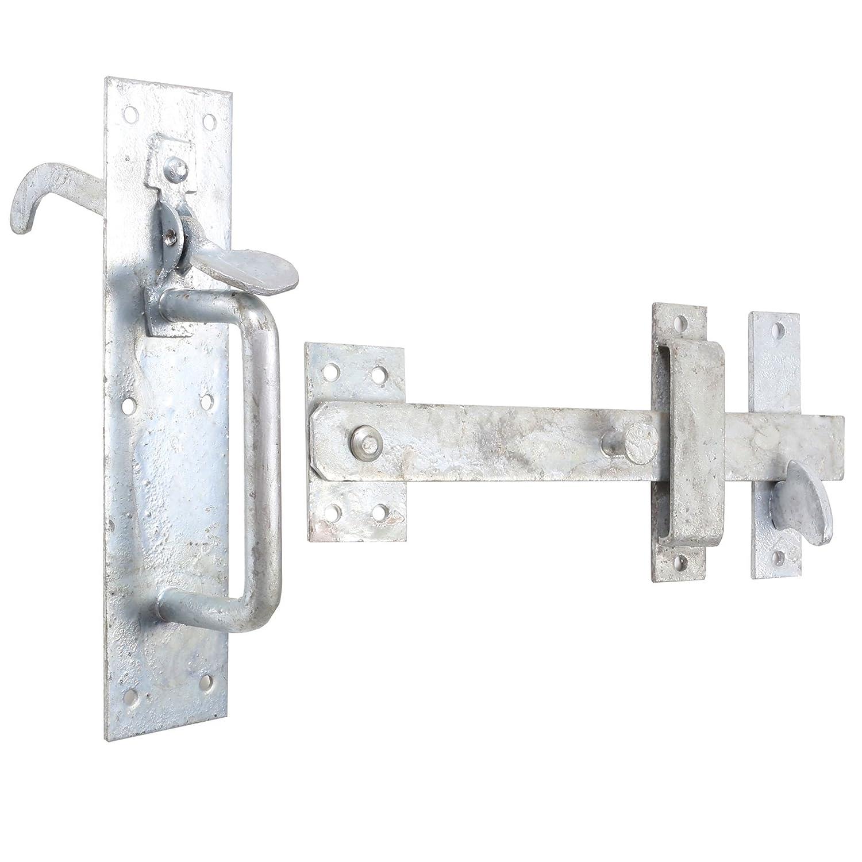 "4/""//100mm Galvanised Padbolt Lock Security Garden Gate Shed Door Bolt Catch//Latch"