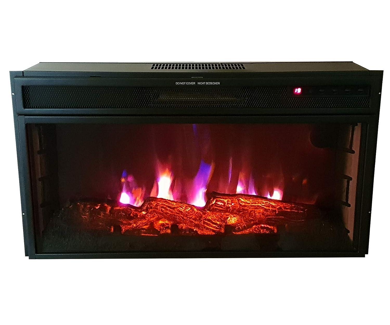 Komerci YF-2801ERA Elektrisches Kaminfeuer Kaminofen mit LED-Flammen und 2kw Heizung Kamin