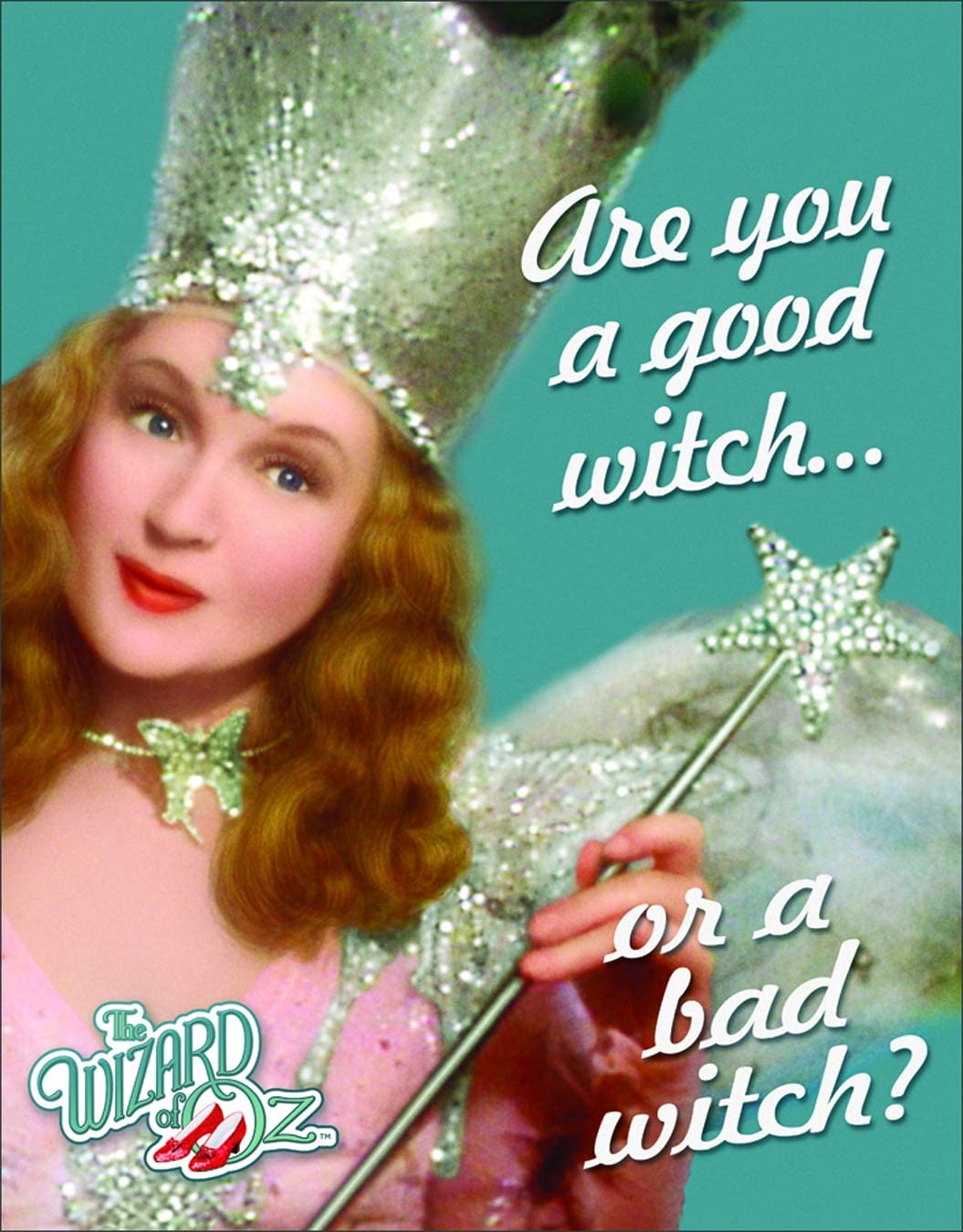 "Desperate Enterprises The Wizard of Oz - are You A Good Witch Or A Bad Witch Tin Sign, 12.5"" W x 16"" H"