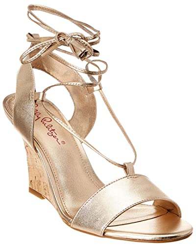 446f5a7b42d0 Lilly Pulitzer Women s Aria Wedge Gold Metallic 6 M US