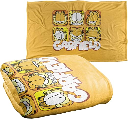 Amazon Com Trevco Garfield Faces Silky Touch Super Soft Throw Blanket 36 X 58 Home Kitchen