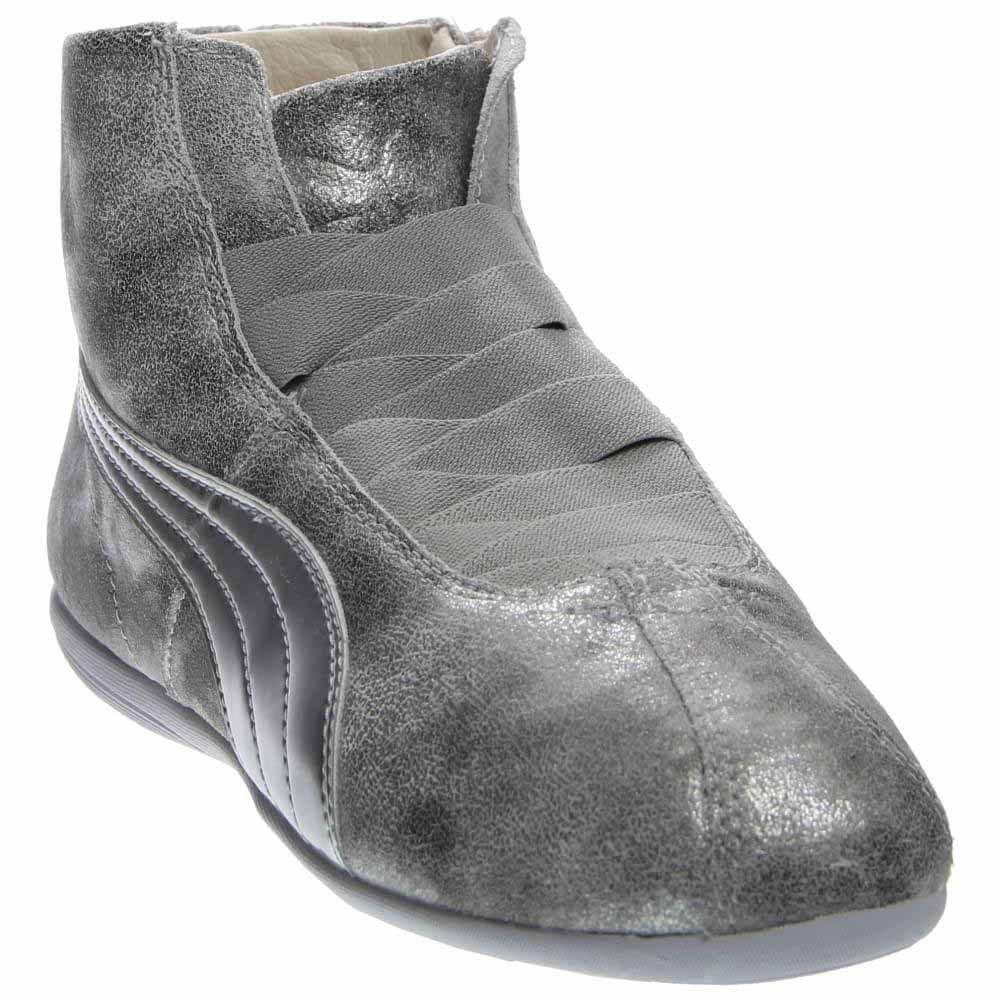 PUMA Women's Eskiva Mid Metallic Silver Sneaker 9 B (M)