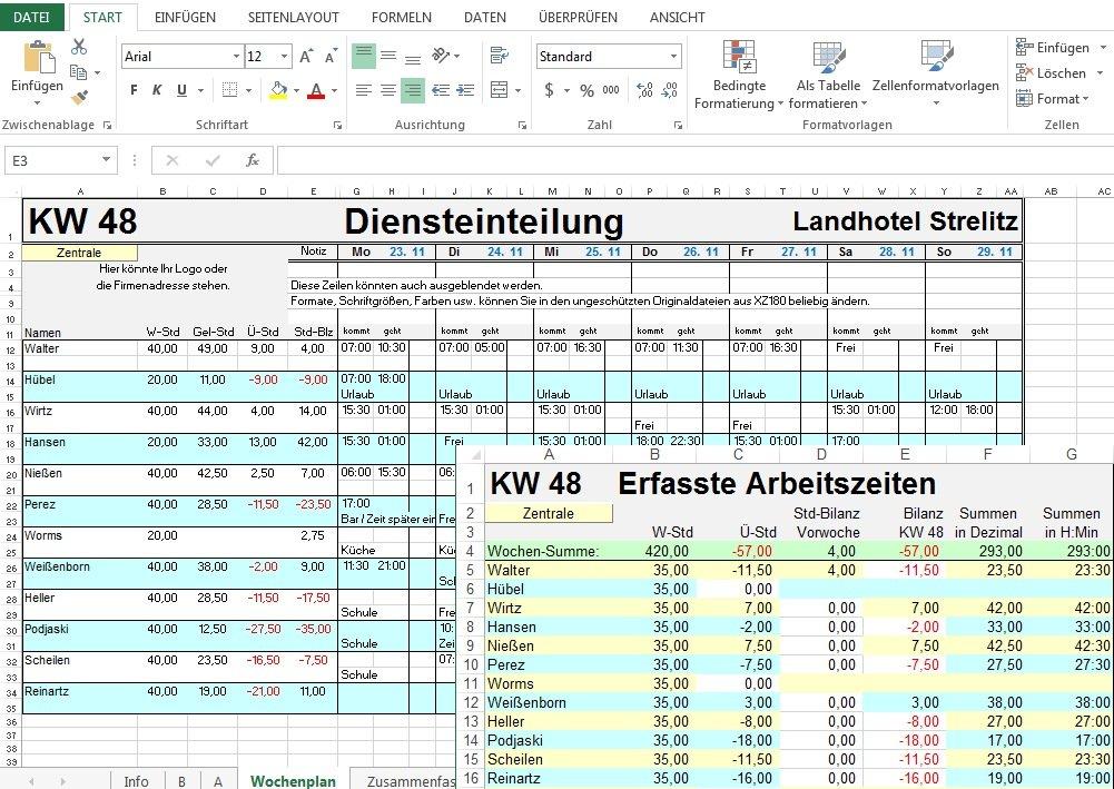 Digitaler Zeitplaner 2016 + Personalplaner 2016 für Excel 2016, 2013 ...