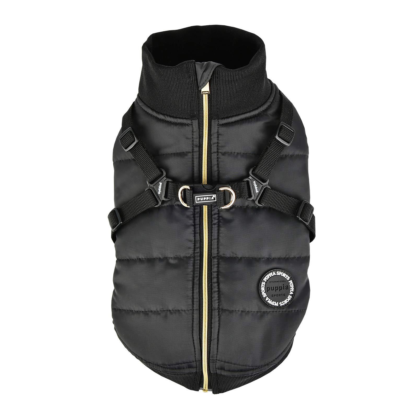 Puppia PLSD-VT1668-BK-M Frost Pet Coat, Black, Medium