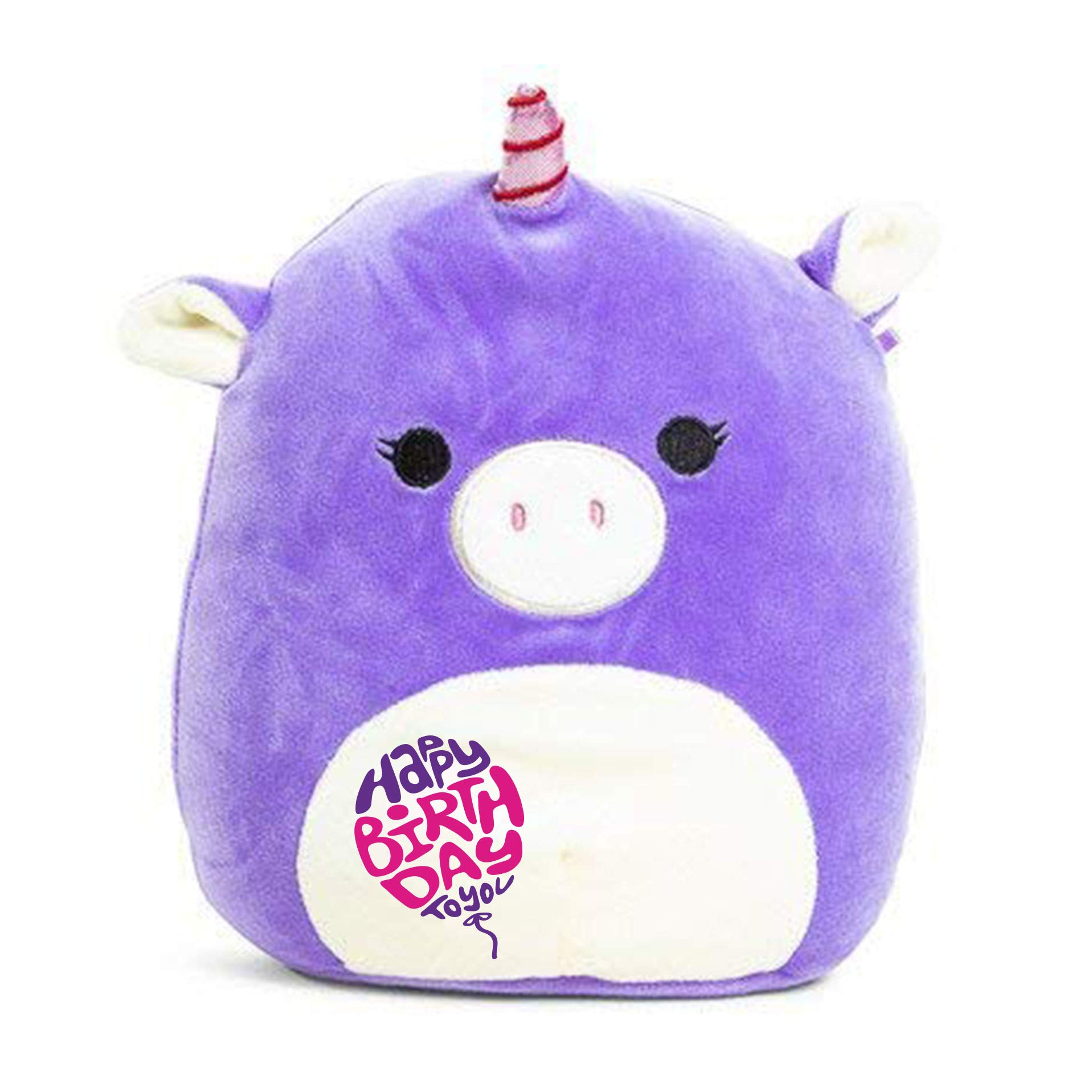 Limited Edition! Happy Birthday Squishmallow Pre-Customized for Birthday Original Kellytoy 13'' Unicorn Super Soft Plush Stuffed Animal Pillow by CustomizedbyBilgin